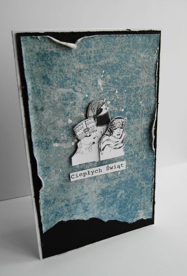 Ręcznie robiona kartka świąteczna/ Handmade Christmas card