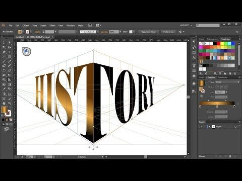 How to Wrap a Single Word  Around the Perspective Grid Planes in Adobe Illustrator - YouTube