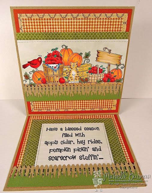 """High Hopes Stamps: Country Harvest by Michelle O using """"Country Harvest"""" (T109)"""