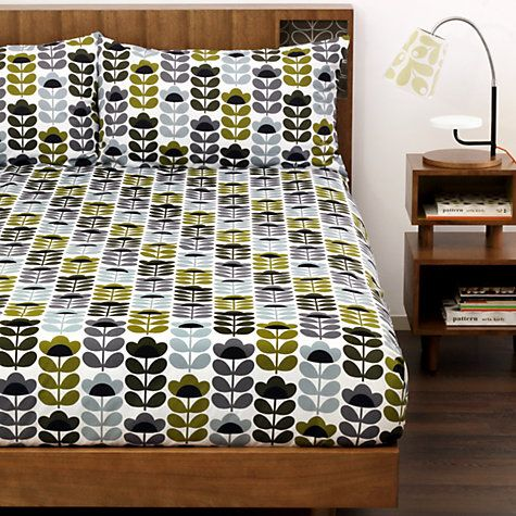 Buy Orla Kiely Sweet Pea Bedding Online at johnlewis.com  CUTE... I HAVE A FRIEND WHO WOULD LOVE THIS