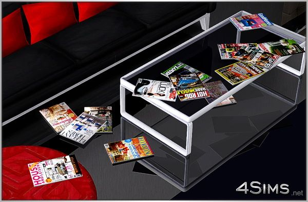 Home Decor Cars Tech Magazines Clutter Set For Sims 3