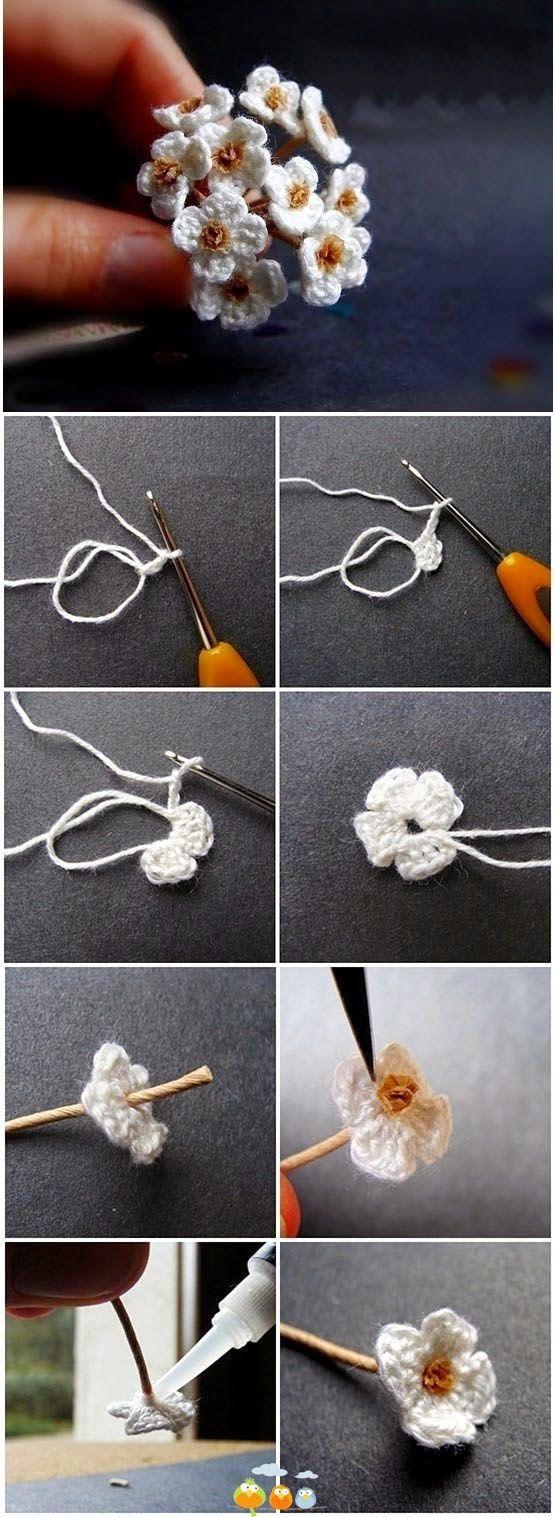 Photo tutorial.  innovart en crochet: Accesorios y detalles en crochet