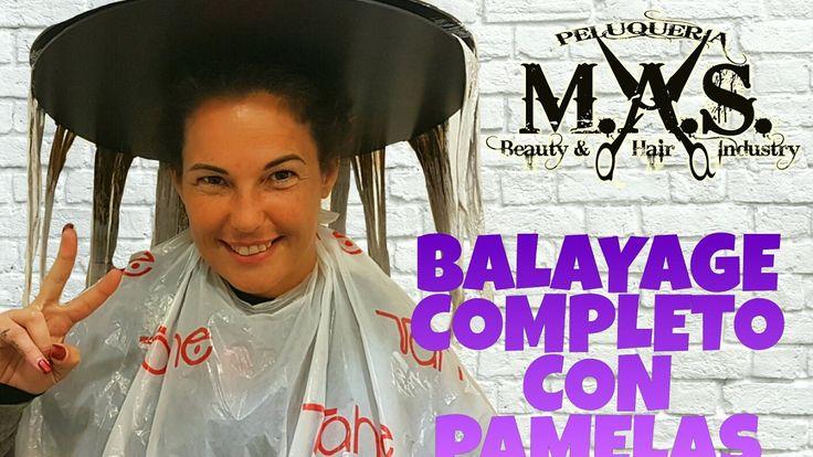 Como hacer en el Cabello Mechas Balayage  con Pamelas  2016 New  Hair Ba...