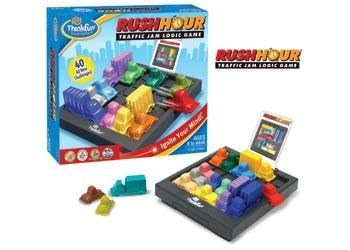 Thinkfun Rushhour logic game.  Move the traffic to get out of the jamm.Start with the beginner card and work your way through the challenge cards. #toys2learn#thinkfun#game#logic#challenge#kids#children#processing#think#brain#learning#teach#single#strategy#skills#exercise#adult#primay#middle#school#learning#australia#