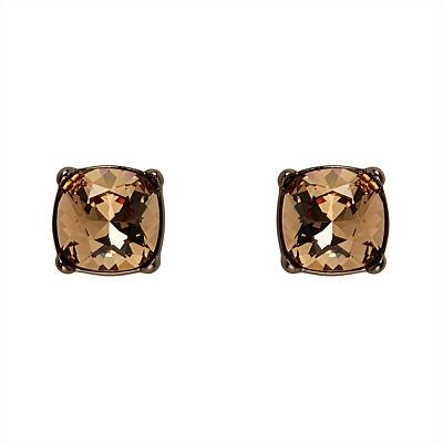 Brown is the new black. A chocolate twist on our classic Jewel Studs, this pretty pair features hand-set Swarovski crystals and will provide instant pizzazz. #mimco #jewellery #fashion #earrings