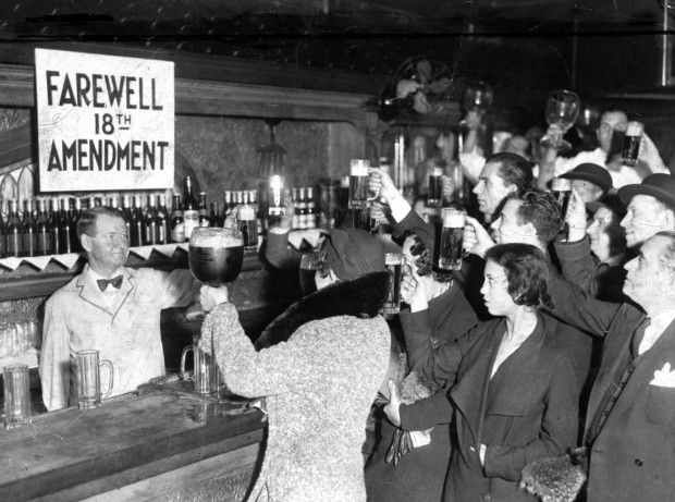 December 5, 1933...After the 18th amendment, Congress passed the Volstead Act, which set the date for prohibition at January 17, 1920. This act also defined strict limits on beverages containing alcohol, ensuring that the content would be no more than .5%.