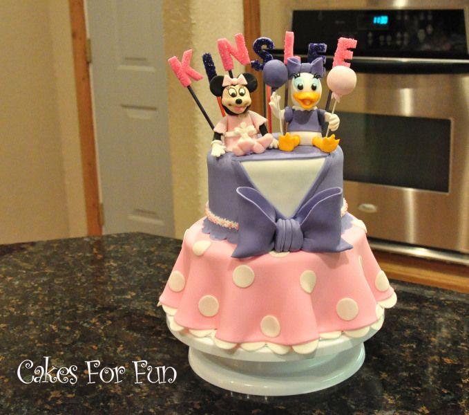 Daisy And Minnie Birthday Cake