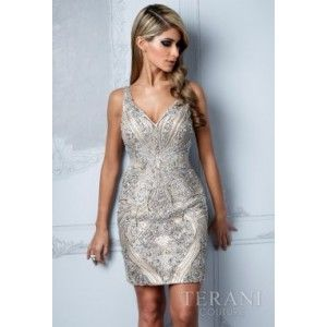 Terani Couture Collection | Short Evening & Cocktail Dresses Style C2011  Evening Gown Cocktail Dress