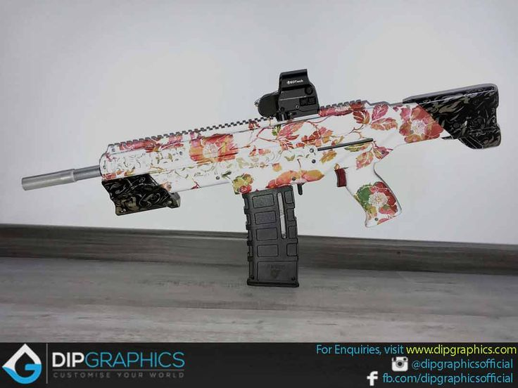 Hydro-Dipped-Zeus-2-Nerf-Blaster-in-Floral-Pattern---1
