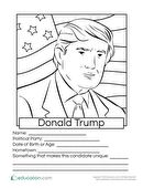 Donald Trump Coloring Page: 2016 Presidential Candidates