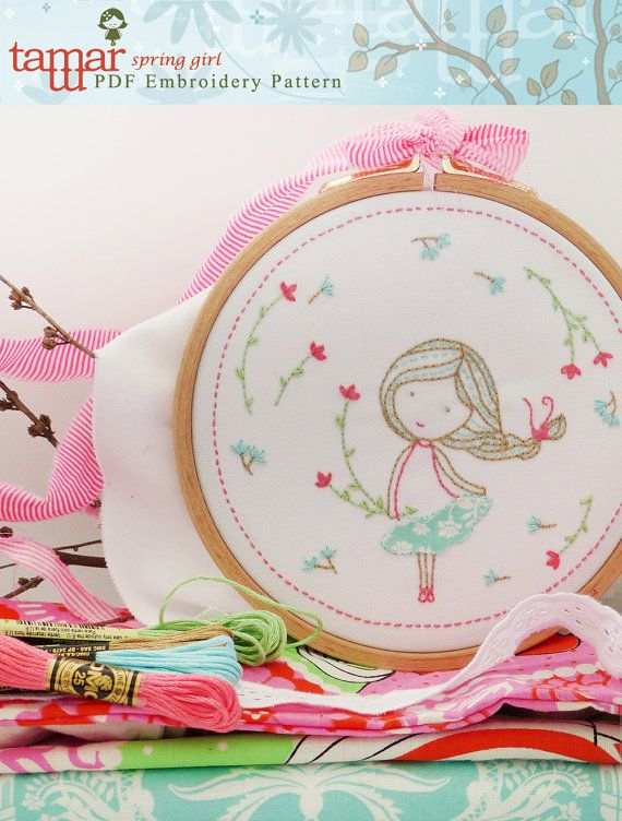 Embroidery Pattern Instant Download Spring por TamarNahirYanai