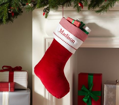 22 Best Red Velvet Christmas Stockings Images On Pinterest