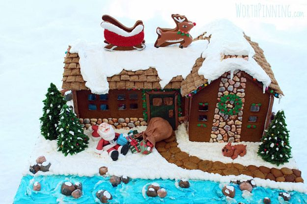 """Up on the Rooftop"" Gingerbread House 
