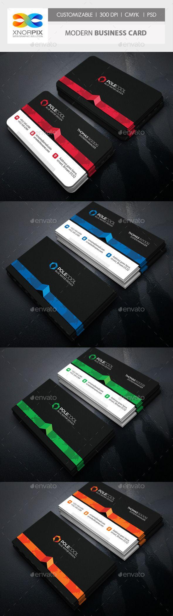 Modern Business Card Template #design Download: http://graphicriver.net/item/modern-business-card/11119300?ref=ksioks