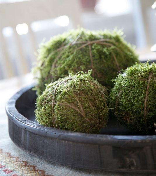 mossa blommor blomster arragemang inspiration tips ide dekorera grönt växter