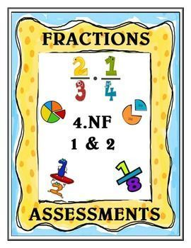 This is a 22 page Fractions Assessment Product that is aligned to the Common Core Standard Numbers and Operations-Fractions 1 and 2 for 4th grade. (4.NF.1 and 2). Each mini assessment has visually appealing fraction models, designated work spaces, and open-ended questions to promote higher level thinking.