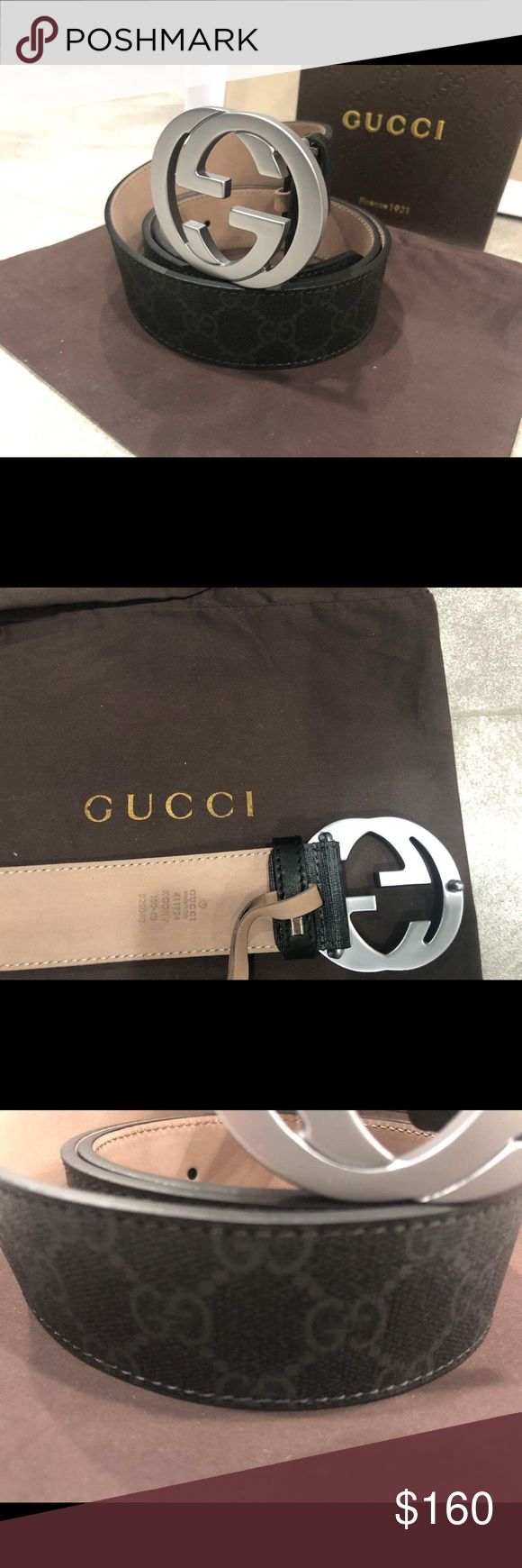 Authentic Men Gucci Belt Black Canvas 100% Authentic Mens Gucci Belt  Sizing made easy! Just choose the size u wear in pants.   Comes with box, dust bag and tags!!  From a smoke and pet free home!! Gucci Accessories Belts