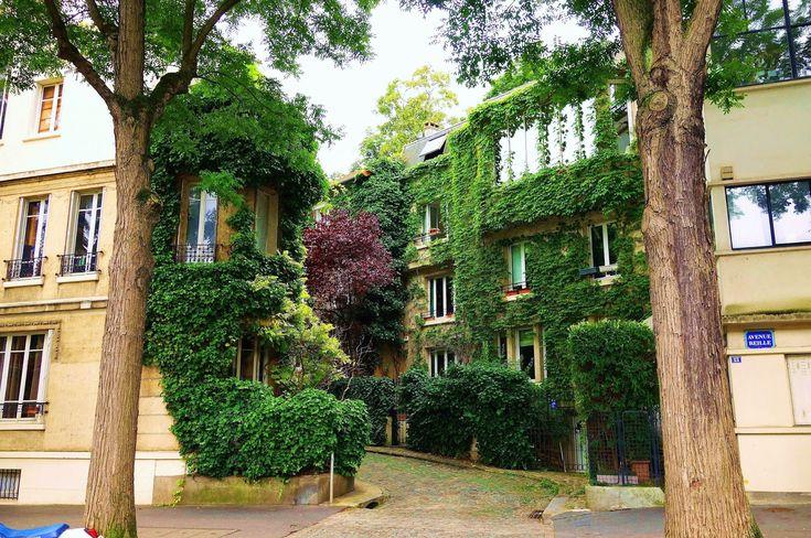 Paris : L'insolite square Montsouris, verdoyante allée résidentielle - XIVème   Paris la douce