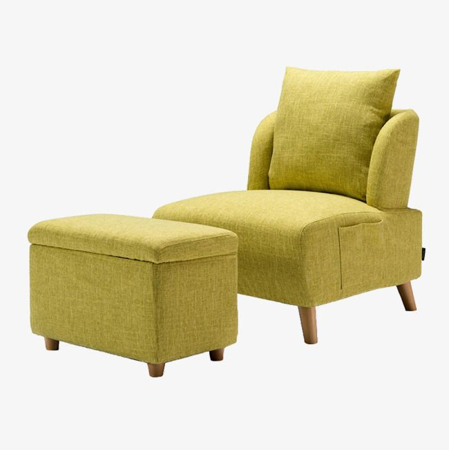 Yellow Armchair Upholstered Ottoman Yellow Armchair Accent Chairs