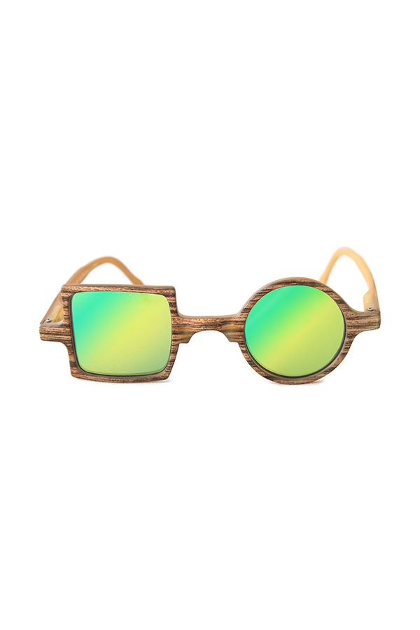 Lunettes solaires miroir Patchwork effet bois Read Loop #allyoureadislove #sunglasses #vintage #miror #sunrise #hyspter #fashion #fashioninspiration #design #style #trendy #lunettes #solaires #hype #summer #summerstyle #ete #plage #summer #colors #mode #summeroutfit #readloop