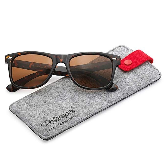 36f065213af6e Polarspex Polarized 80 s Retro Classic Trendy Stylish Sunglasses for Men  Women  Clothing