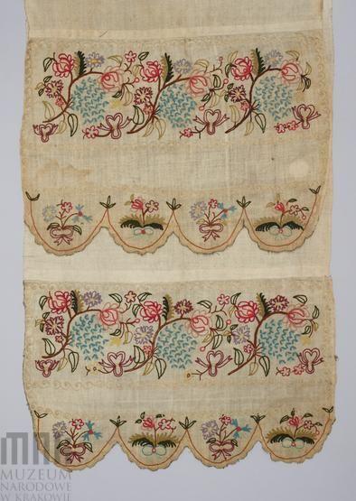 Ręcznik płócienny haftowany