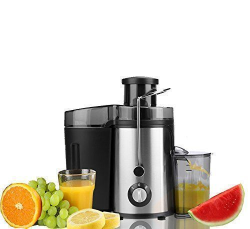 Professional Electric Juicer Machine - 65mm Wide Mouth Fruit Juice Extractor - 350 Watt Centrifugal Juicer - Powerful Masticating Juicer With Juice Jug,2 Speed Setting Food Grade Stainless Steel
