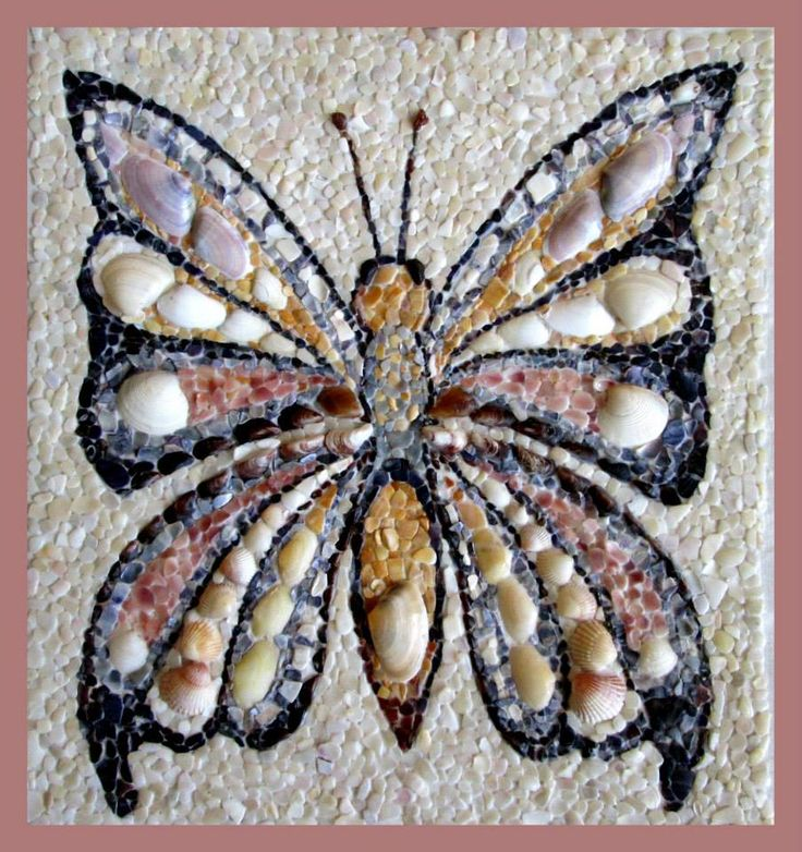 17 best images about shell crafts on pinterest sea for Seashell mosaic art