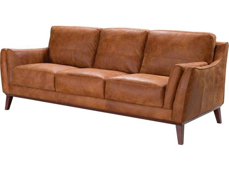 Acme Furniture - MI Piace Vintage Light Brown Genuine Leather Sofa - 54055