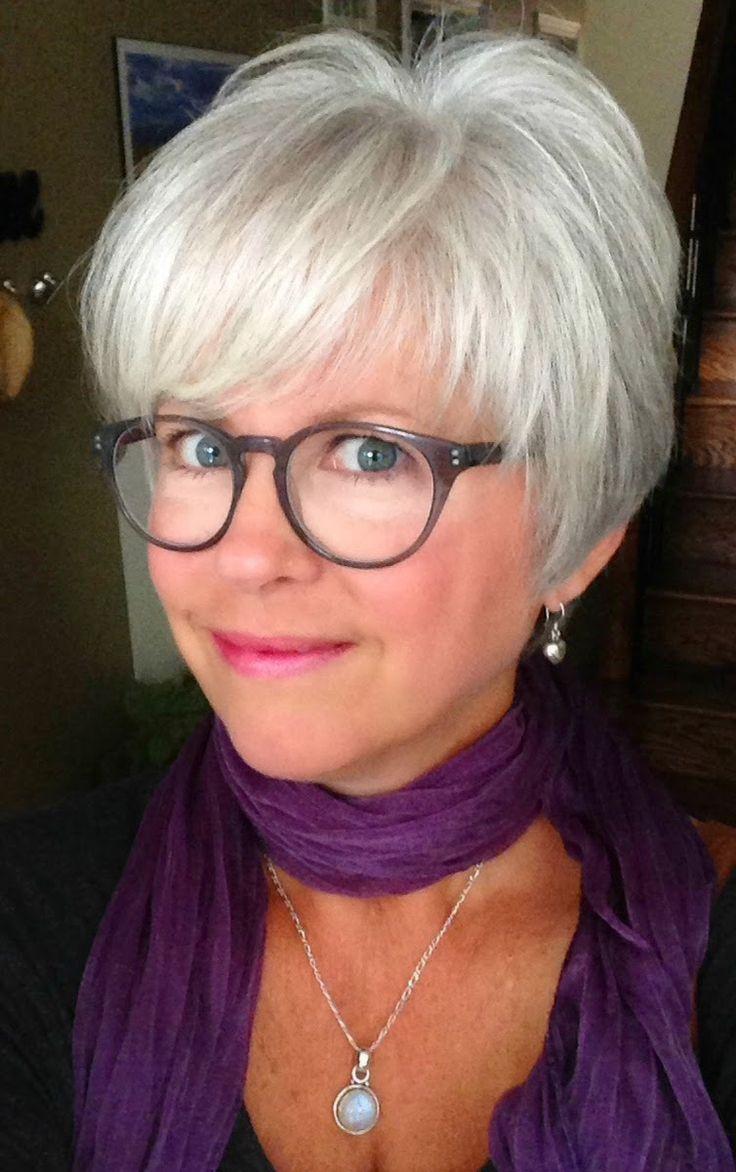 Best  Short Gray Hair Ideas On Pinterest - Silver hair styles
