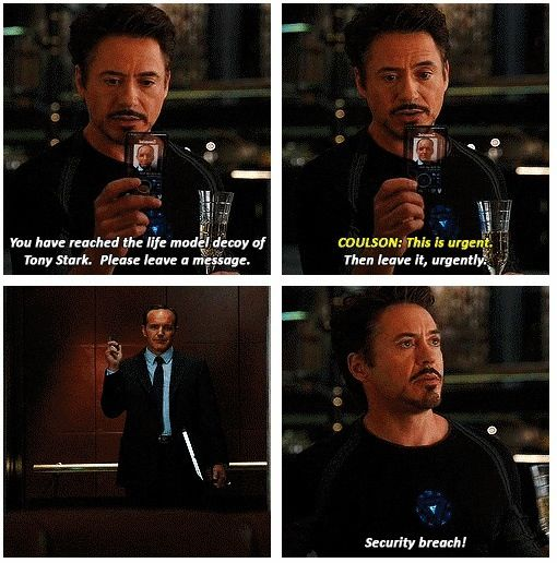 Funniest Movie Quotes: Avengers- Movie Quote Tony Security Breach