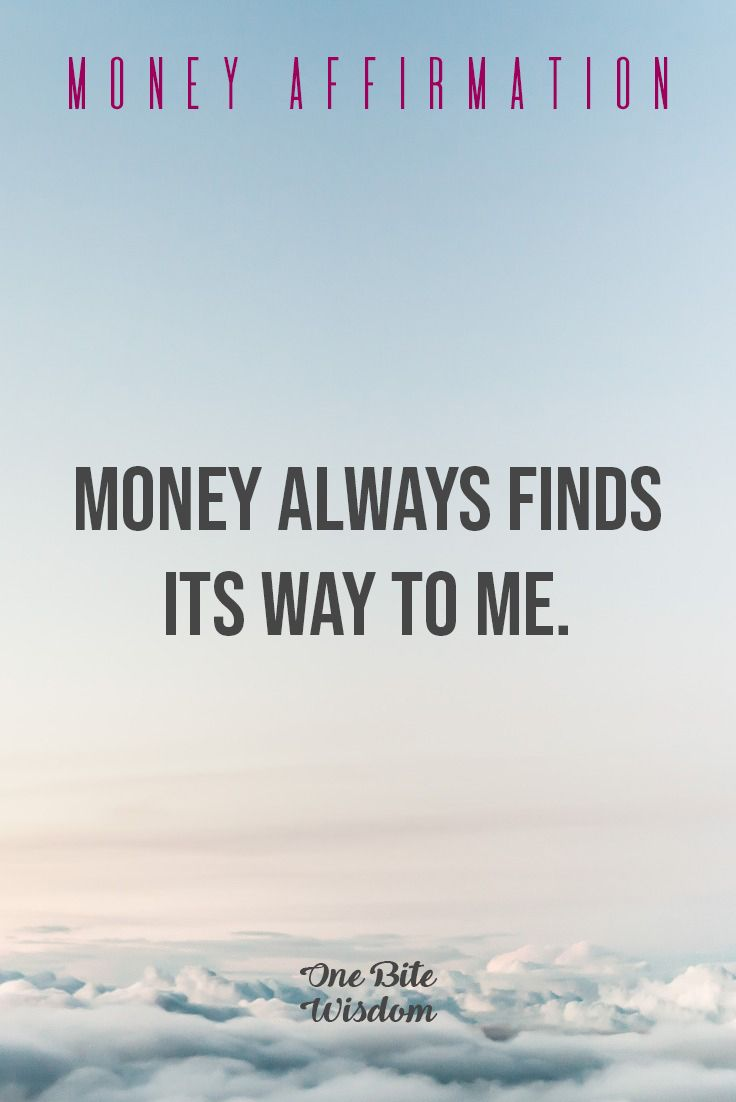 Positive Affirmation To Attract Money