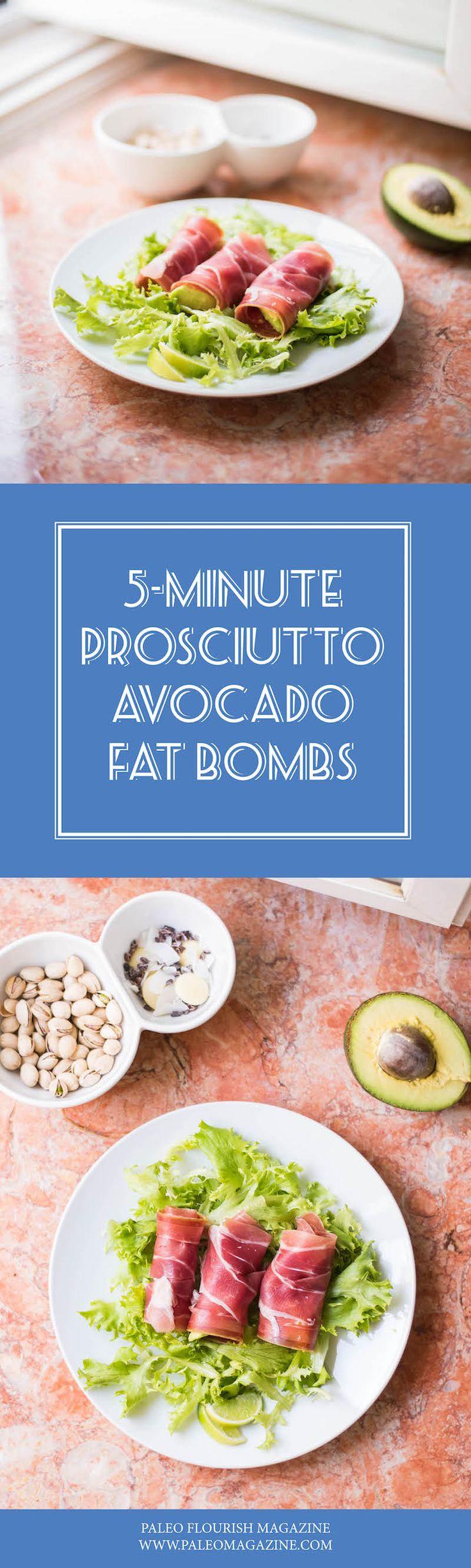 prosciutto avocado fat bombs #keto #paleo #snack http://paleomagazine.com/prosciutto-avocado-fat-bomb-recipe