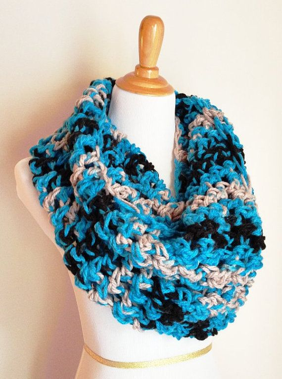 Carolina Panthers Scarf  Carolina Panthers  by GoldCreekDesigns