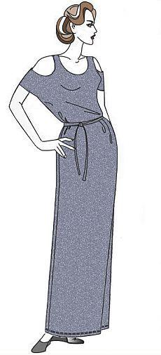 """vestido largo de una noche - """"estilo retro, la moda y la costura"""""""