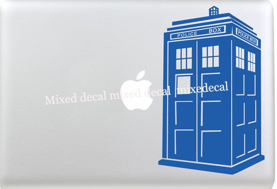 macbook decal pro  stickers macbook decal Tardis macbook air decal apple sticker mac decals mac laptop stickers by MixedDecal on Etsy
