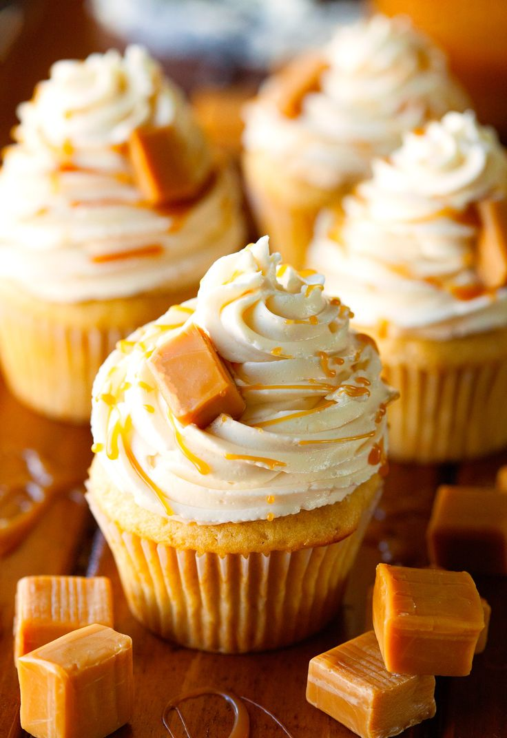 ❤️The Best Salted Caramel Cupcakes❤️