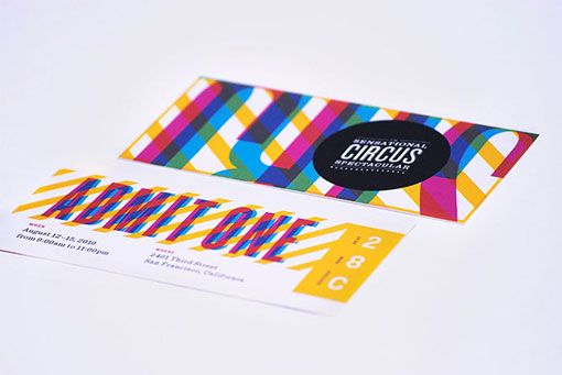 branding by nathan godding for an imagined, modern circus.