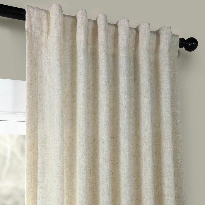 Solid Room Darkening Rod Pocket Single Curtain Panel Curtains