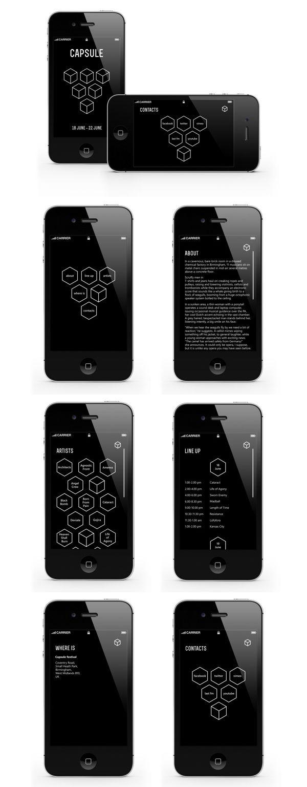 Music fest app design