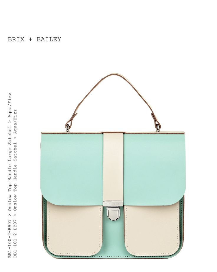 Brix and Bailey Luxury Leather handbag and accessory brand - Unisex  Top Handle Leather Handbag - Aqua/Fizz - www.brixbailey.com Beautiful Leather Handbag from the up and coming Handbag brand Brix + Bailey - www.brixbailey.com, Brix + Bailey (@brixandbailey) | Silver Leather Structured Bag. Designed in London and New York, www.brixbailey.com Collab Naomi Isted, Licenisng www.thisisiris.uk