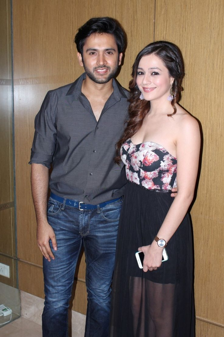 Television actors Mishkat Varma and Priyal Gor during the launch of Sony LIV in Mumbai