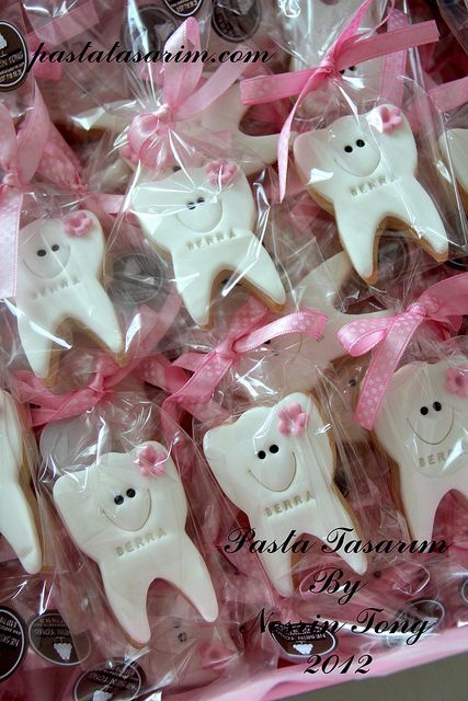 first tooth cookies by CAKE BY NESRİN TONG, via Flickr