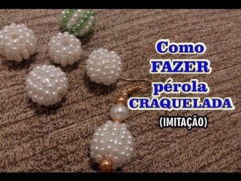 Como FAZER pérola CRAQUELADA (Imitação) - DIY - YouTube