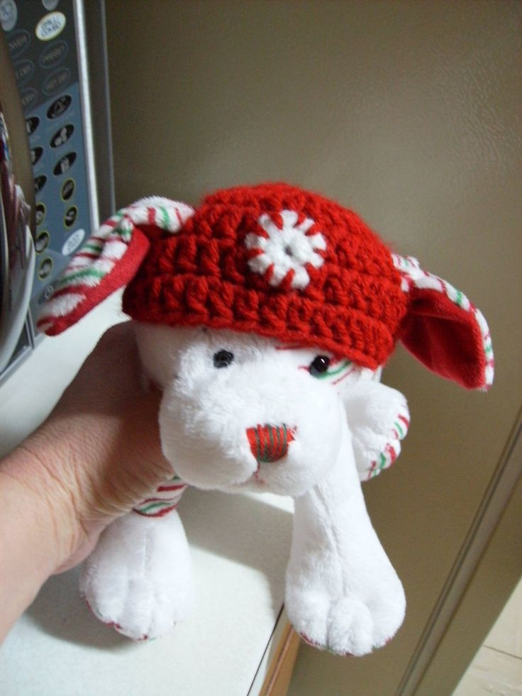 Free Stuffed Animal Hat Crochet Pattern - can be made for real animals too and easily adjusted ...