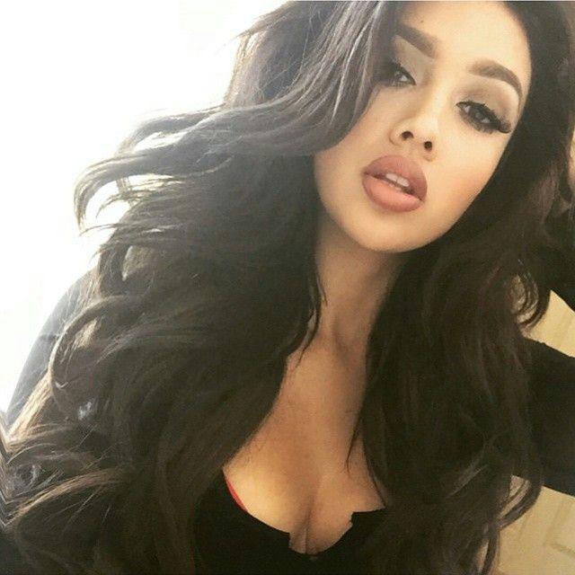 Beautiful long hair + makeup