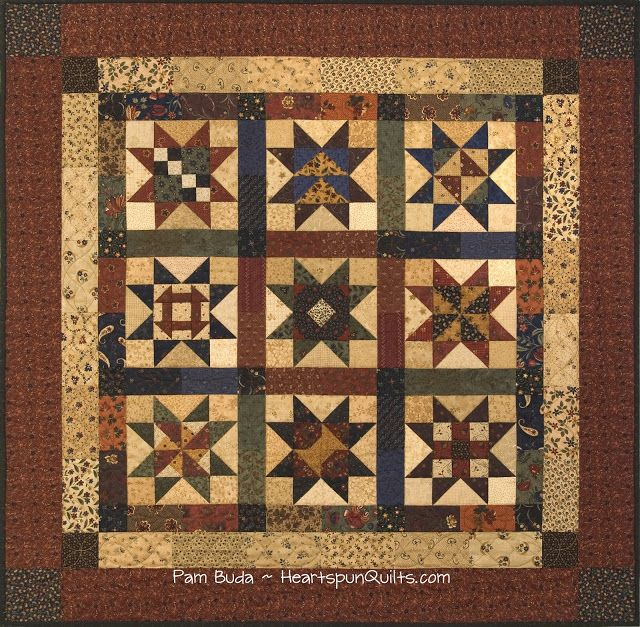 Heartspun Quilts ~ Pam Buda: Primitive Quilts and Projects ~ Fall 2015 Issue!