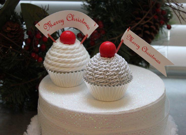 Smoothfoam CupcakesCha Design, Cupcakes Cupcakes, Christmas Crafts, Smoothfoam Cupcakes, Cupcakes Cak, Christmas Decor, Crafts Idease Diy, Cupcakes Rosa-Choqu, Cupcakes Yum