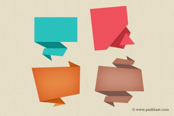 Abstract Origami Speech Bubbles screenshot