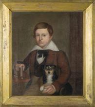 PORTRAIT OF A BOY AND HIS DOG, JESSE OWEN, 1838.